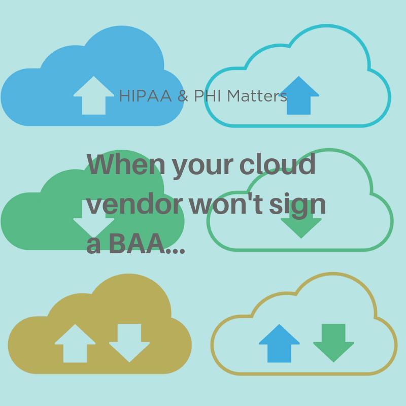 Vendors HIPAA BAA