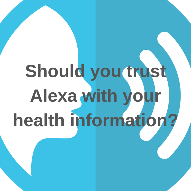 alexa HIPAA health info privacy