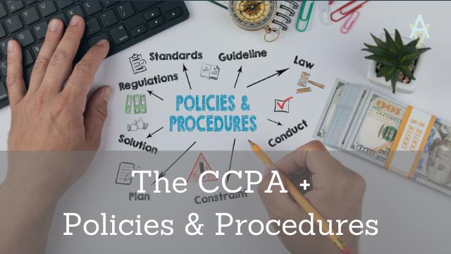 policies procedures CCPA